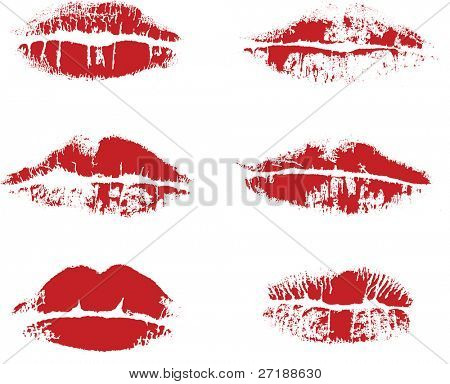 abstract Vector beeindrucken Lippen