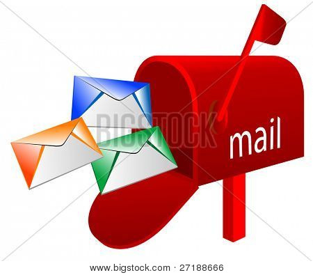 Abstract vector illustration of mailbox