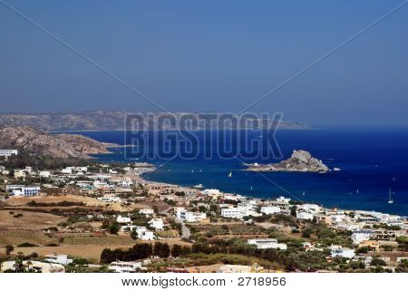Bay Of Kefalos In Greece