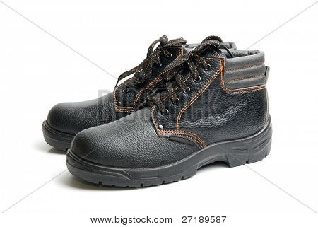 modern working boots isolated on a white background