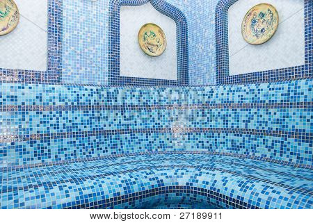 The Turkish sauna with ceramic tile