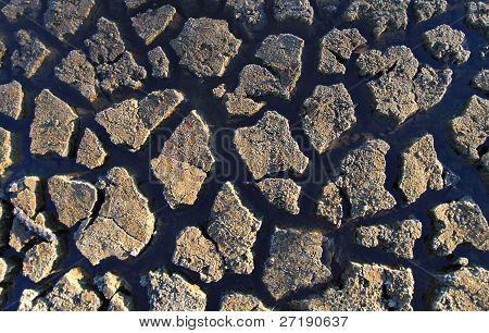 Mud crack texture