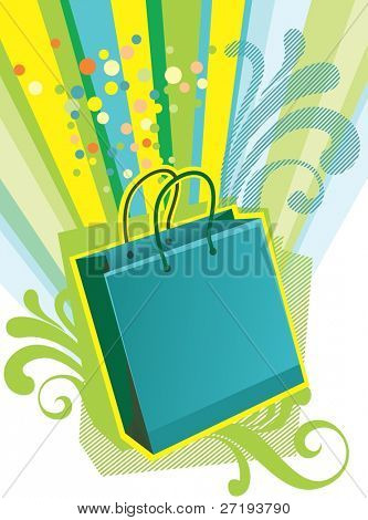 "Illustration of shopping bags for ""Sale"" design template"