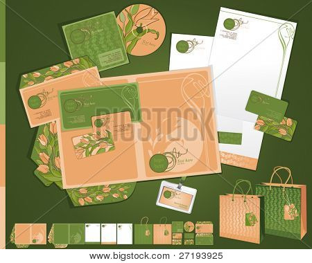 Vector template in art deco style