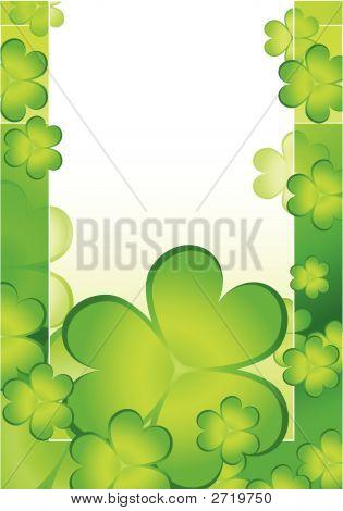 Shamrock Decorative Background For St. Patrick'S Day