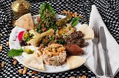 image of tabouleh  - Mixed lebanese food - JPG