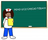 pic of lice  - school nurse on head lice check day - JPG