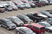 image of parking lot  - a parking lot crammed with cars - JPG