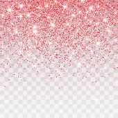 Pink Glitter Sparkle On A Transparent Background. Vibrant Background With Twinkle Lights. Vector Ill poster