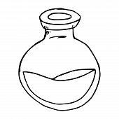 Jar Of Liquid Hand Drawn. Vector Illustration Of A Jar. Jar Icon. poster