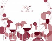 Horizontal Wine Glasses Pattern. Design Element For Tasting, Menu, Wine List, Restaurant, Winery, Sh poster