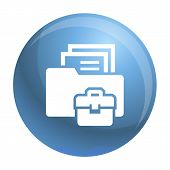 Folder Briefcase Icon. Simple Illustration Of Folder Briefcase Icon For Web Design Isolated On White poster