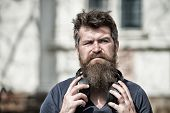Get Music Subscription. Excellent Music In His Playlist. Enjoy Free Songs Everyday. Man Bearded Hips poster