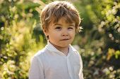 Funny Child Winking. A Kid Winking An Eye, Emoji. Happy Cute Boy. Beautiful Portrait. Expressive Fac poster