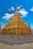 Giants of Wat Phra Kaeo Temple, Bangkok landmark, Thailand poster