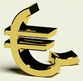 Постер, плакат: Сломанной евро представляющие инфляции или экономической несостоятельности