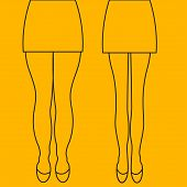 Female Thick And Slender Legs Before And After Weight Loss, Beautiful Body, Liposuction Legs, Legs M poster