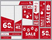 Web Banners Standard Sizes. Advertizing Business Banners Horizontal Vertical Square Shapes Vector Te poster