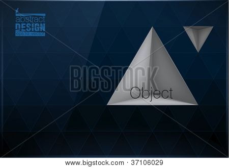 Triangles background with built shelf, you can change colors, eps10 vector