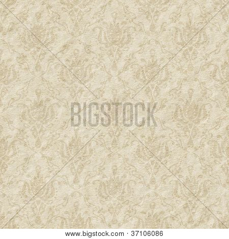 Seamless faded paper with floral ornate background - texture pattern for continuous replicate.