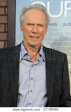 LOS ANGELES - SEP 19: Clint Eastwood at the Premiere of 'Trouble With The Curve' on September 19, 2012 in Los Angeles, California