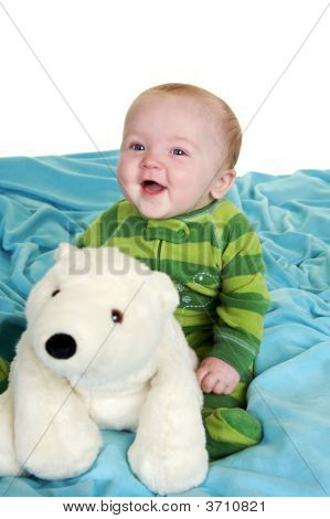 Baby With A Stuffed Animal