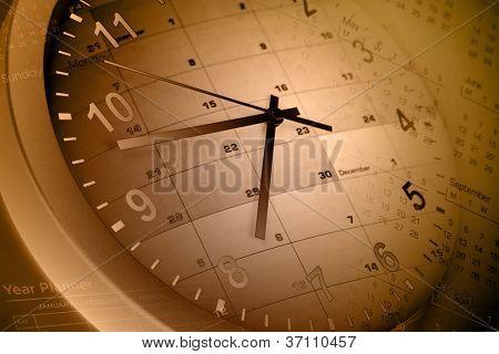 Páginas de cara y calendario reloj