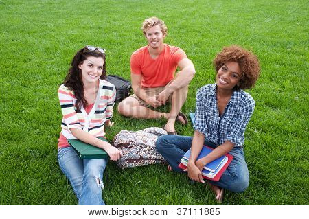 Group Of Happy College Students