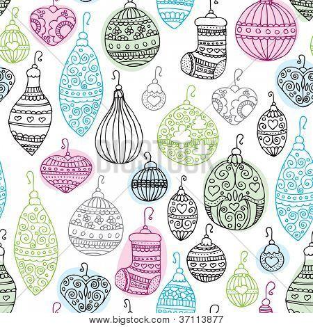 Sem costura Natal decoração ilustração fundo padrão em vetor