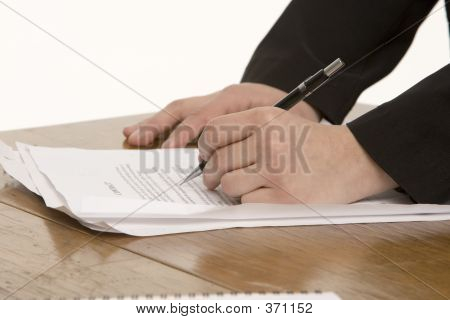 Left Handed Woman Writing