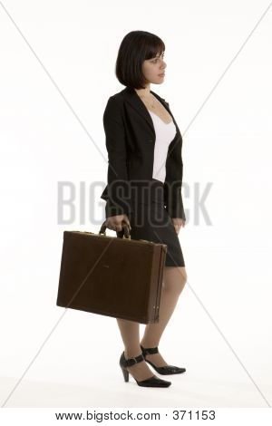 Young Business Woman With A Brief Case