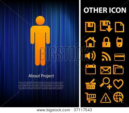 Human business background and other icon, easy editable
