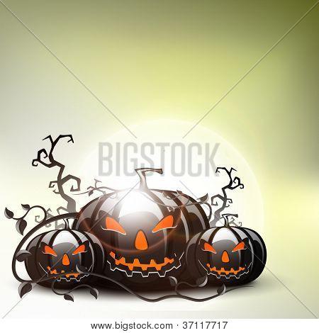 Halloween pumpkins. EPS 10.