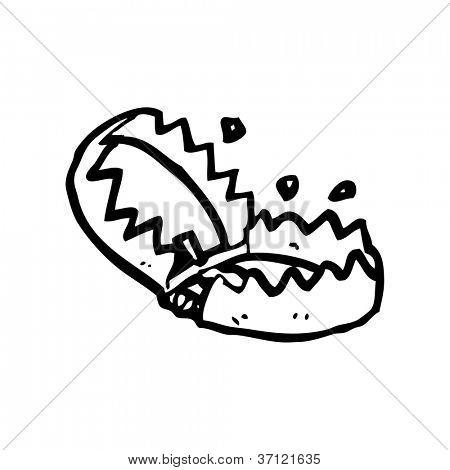 cartoon bear trap