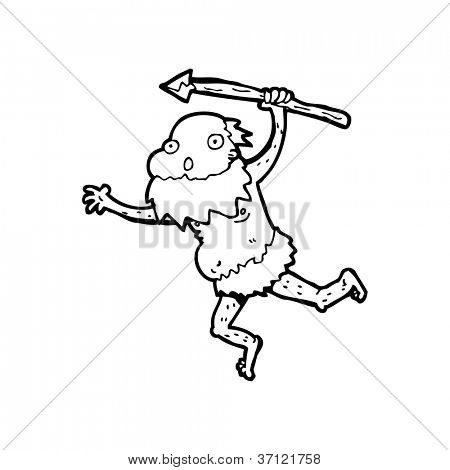 cartoon old tribesman
