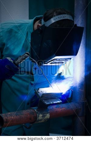 Blue Flame Welder