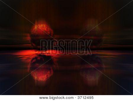 Meteor Or Comet Fireball Crashing