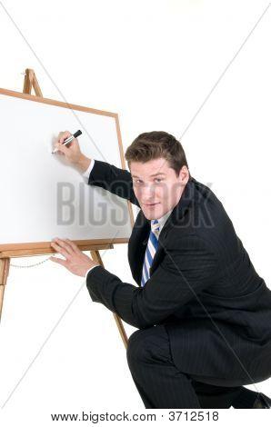 Presenter With Board