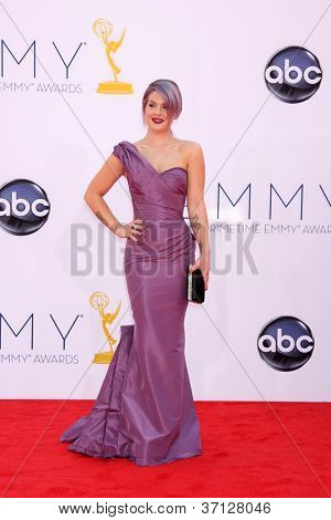 LOS ANGELES - SEP 23:  Kelly Osbourne arrives at the 2012 Emmy Awards at Nokia Theater on September 23, 2012 in Los Angeles, CA