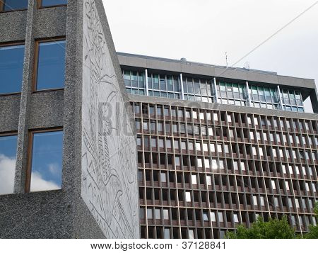 Damaged Government Building In Oslo
