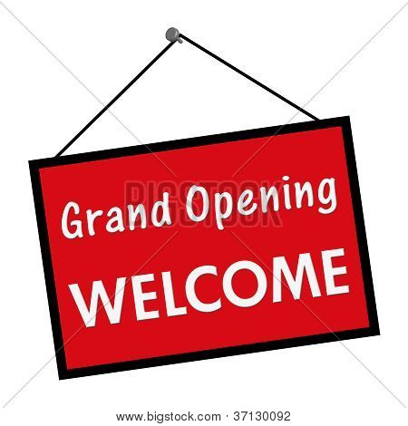 Grand Opening Welcome Sign