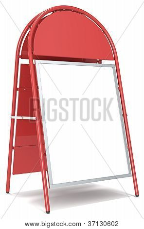 Logo Sandwich Board.