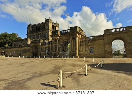 A View Of Chatsworth House Entrance, Great Britain
