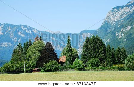 Valley At Stara Fuzina, Slovenia