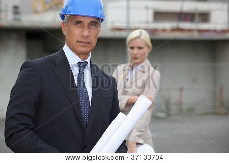 construction manager on site
