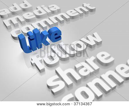 Social Media In 3D