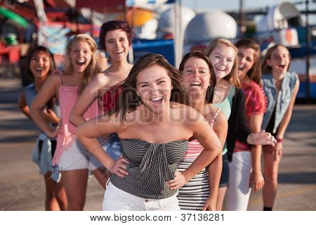 Eight Girls Laughing