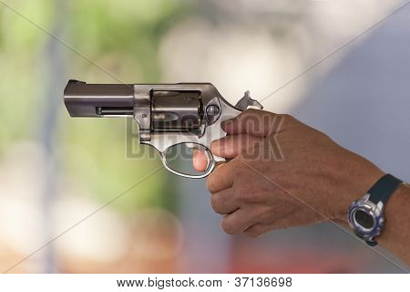 Firing A Stainless Steel Revolver
