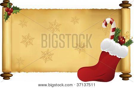 christmas scroll vector