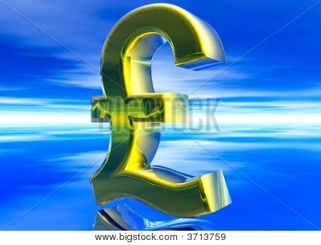 Gold Uk Gbp Pound Sterling Currency Symbol